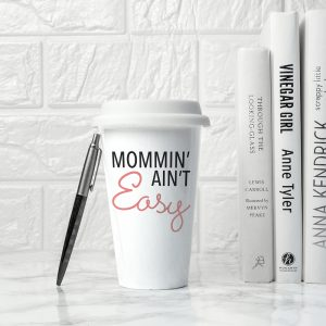 "Personalised Eco Cup - Quality Ceramic ""It Ain't Easy!"" Travel Cup"