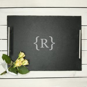 Breakfast In Bed Slate Tray - Brackets Design