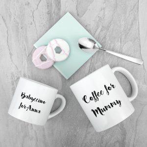 Mothers Day Mugs - Gorgeous Mummy & Me Personalised Ceramic Mugs