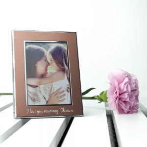 Rose Gold Personalised Photo Frame - Charming Gift