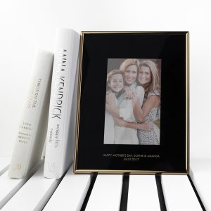 Quality Personalised Photo Frame - Statement Black & Gold Frame