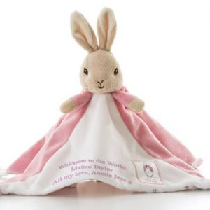 Beatrix Potter Baby Comforter - Personalised Flopsy Bunny Toy