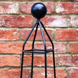 Metal Obelisk For Garden Poppy Forge Obelisks With Solid Ball Top