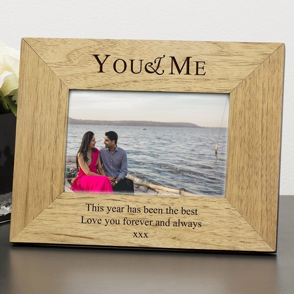Romantic Wooden Photo Frames Engraved You Me Frame 2 Sizes